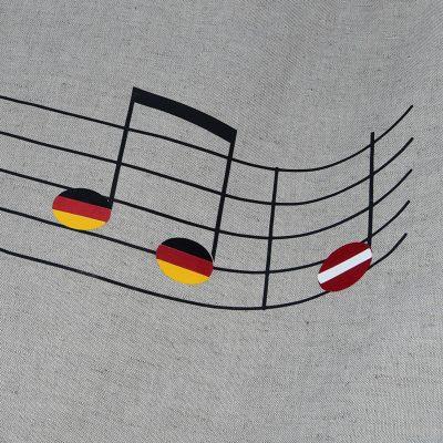 vimpeļi koru karogi samta apdruka